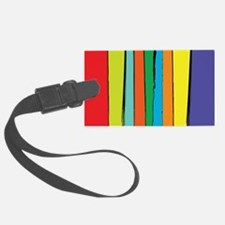 Painted Abstract Rainbow Luggage Tag