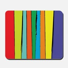 Painted Abstract Rainbow Mousepad