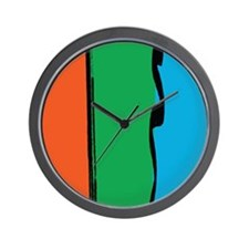 Painted Abstract Rainbow Wall Clock