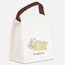 Sleeping Mouse Canvas Lunch Bag