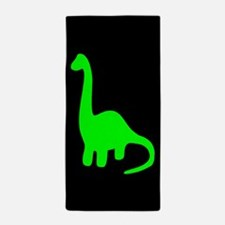Green Brontosaurus Beach Towel