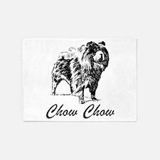 Chow Chow 5'x7'Area Rug