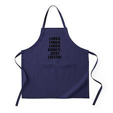 LINDA HONEY JUST LISTEN Apron (dark)