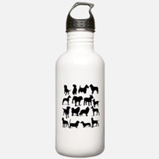 Dog Silhouettes Water Bottle