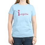 Inspire with small flowers (pink) Women's Light T-
