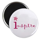 Inspire with small flowers (pink) Magnet