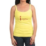 Inspire with small flower(pink) Jr. Spaghetti Tank