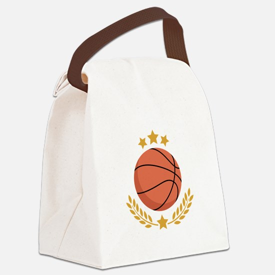 Basketball Laurel Canvas Lunch Bag