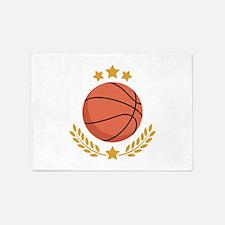 Basketball Laurel 5'x7'Area Rug