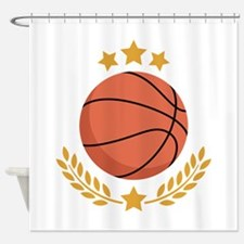 Basketball Laurel Shower Curtain