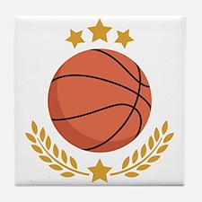 Basketball Laurel Tile Coaster
