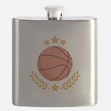 Basketball Laurel Flask