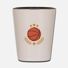 Basketball Laurel Shot Glass