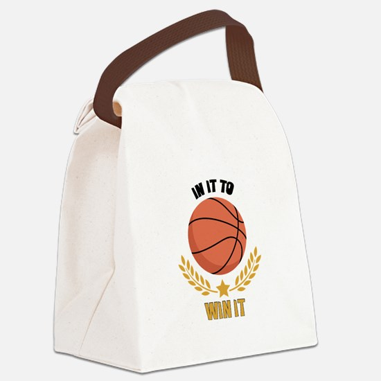 IN IT TO WIN IT Canvas Lunch Bag
