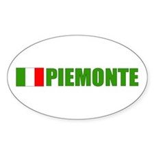 Piemonte, Italia Oval Decal