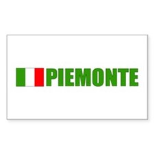Piemonte, Italia Rectangle Decal