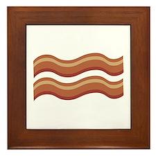 Slice of Bacon Framed Tile