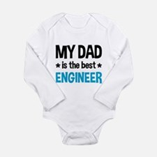 Best Engineer Dad Long Sleeve Infant Bodysuit