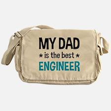 Best Engineer Dad Messenger Bag