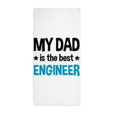 Best Engineer Dad Beach Towel
