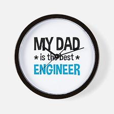 Best Engineer Dad Wall Clock