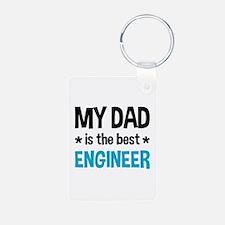 Best Engineer Dad Aluminum Photo Keychain