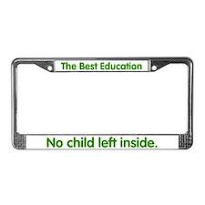 No Child Left Inside License Plate Frame