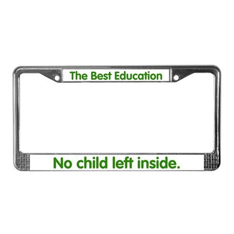 No Child Left Inside License Plate Frame
