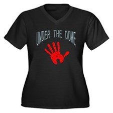 Bloody Hand Women's Plus Size V-Neck Dark T-Shirt