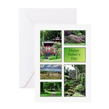 A Fathers day card with garden views Greeting Card