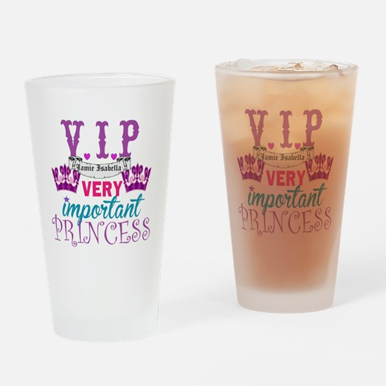 VIP Princess Personalize Drinking Glass