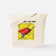Custom Red Wheelbarrow Tote Bag
