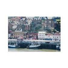 whitby quayside Rectangle Magnet