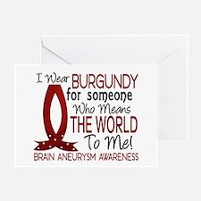 Brain Aneurysm MeansWorldToMe1 Greeting Card