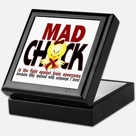 Brain Aneurysm Mad Chick 1 Keepsake Box