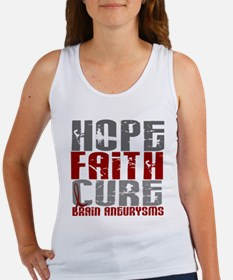 Brain Aneurysm HopeFaithCure1 Women's Tank Top