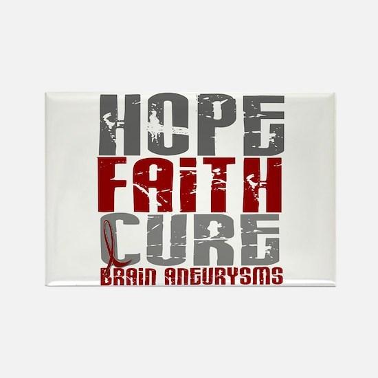 Brain Aneurysm HopeFaithCure1 Rectangle Magnet