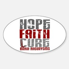 Brain Aneurysm HopeFaithCure1 Sticker (Oval)