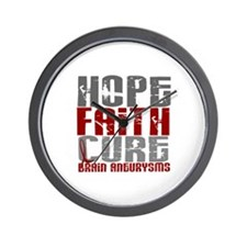 Brain Aneurysm HopeFaithCure1 Wall Clock