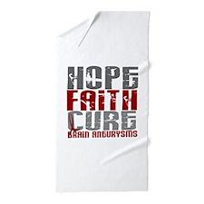 Brain Aneurysm HopeFaithCure1 Beach Towel