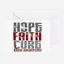 Brain Aneurysm HopeFaithCure1 Greeting Card