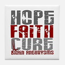 Brain Aneurysm HopeFaithCure1 Tile Coaster
