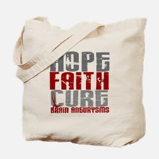 Brain Aneurysm HopeFaithCure1 Tote Bag