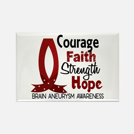 Brain Aneurysm CourageFaith1 Rectangle Magnet