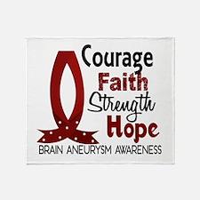 Brain Aneurysm CourageFaith1 Throw Blanket