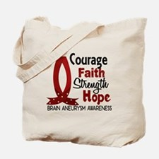 Brain Aneurysm CourageFaith1 Tote Bag