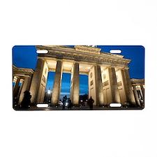 Brandenburg gate night Aluminum License Plate