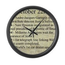 October 22nd Large Wall Clock