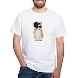 Corgi Mens Classic White T-Shirts