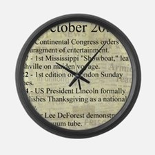 October 20th Large Wall Clock
